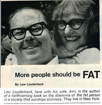 Lew and his wife Ann had fabulous taste in eyewear.