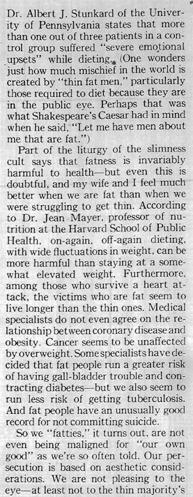 More People Should Be Fat - column 7