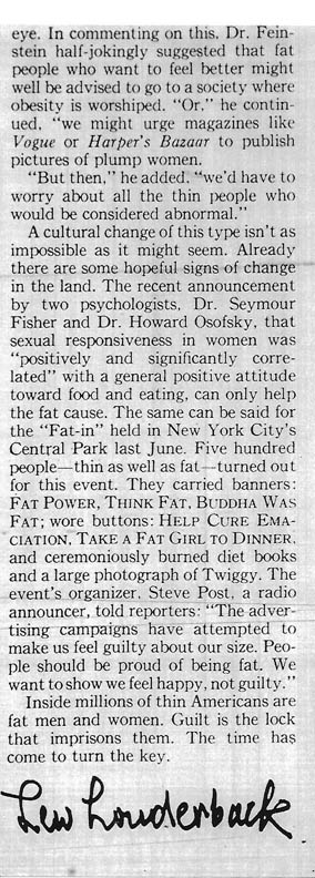 More People Should Be Fat - column 8